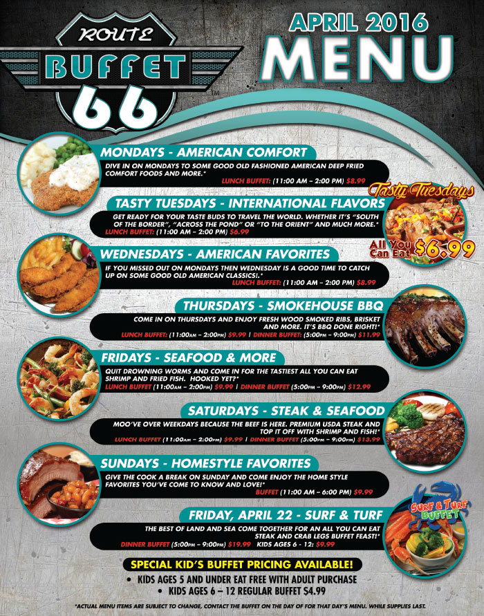 Route 66 casino buffet coupons